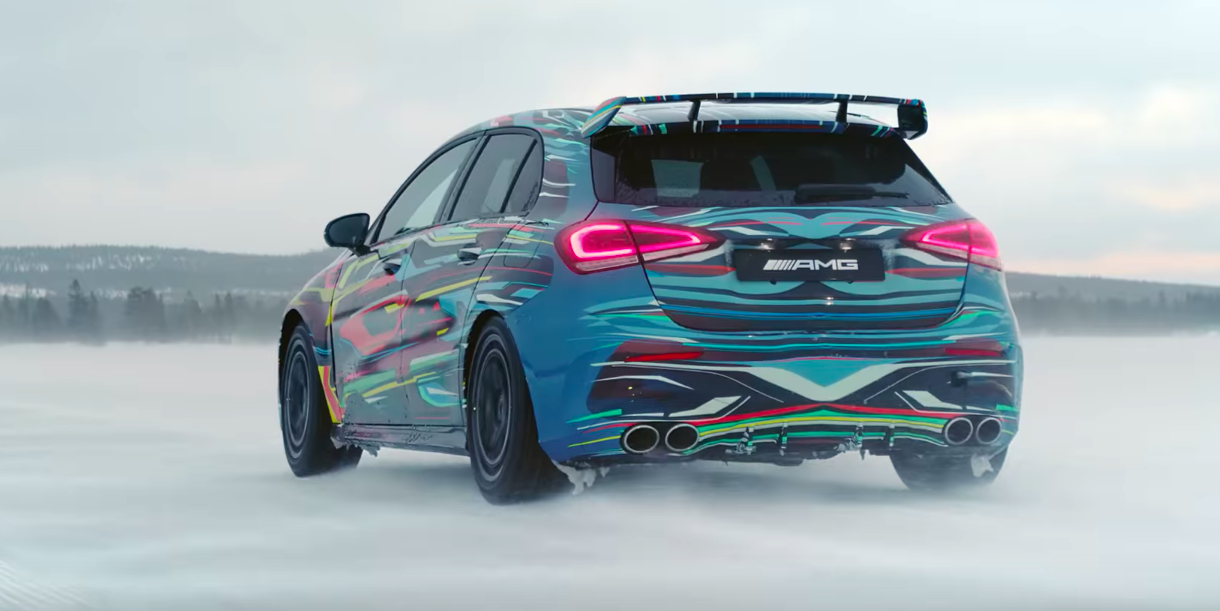 Check Out the Mercedes-AMG A45's Drift Mode - Video of A45