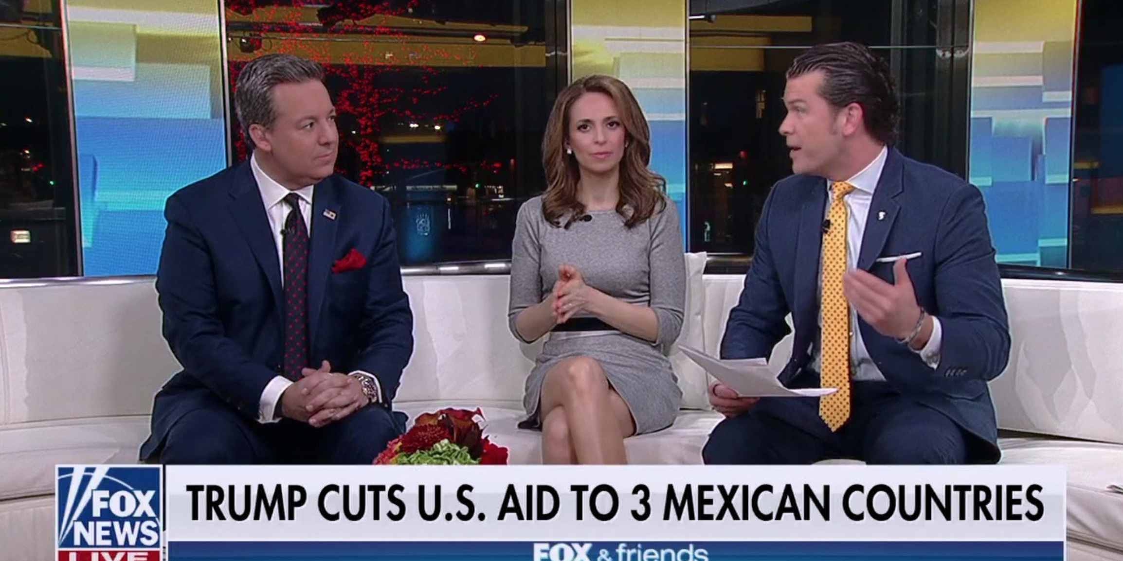 While crowing over Trump's move to cut foreign aid to the three Central American nations, Fox News once again said the quiet part out loud.