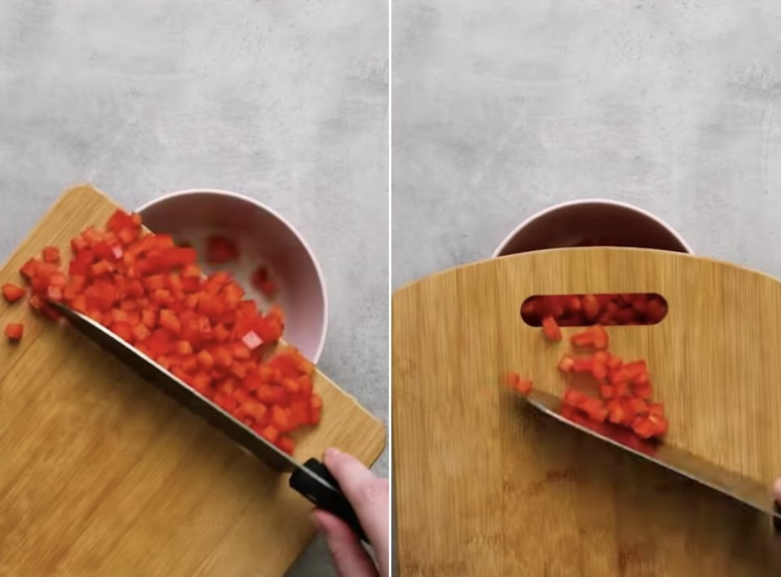 A Canadian Publication Posted A Cutting Board 'Hack' And Twitter Is Not Having It