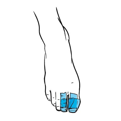 taping your toes to stop blister when running