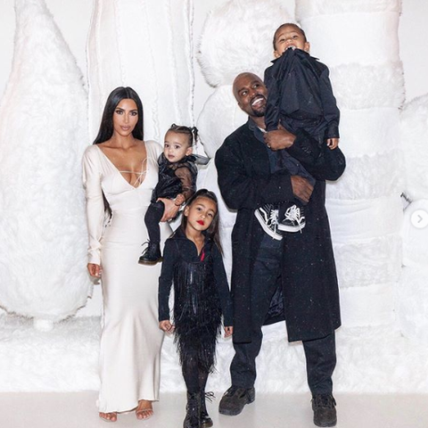 Image result for kanye kim and north