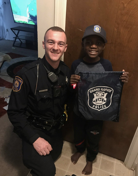 A Police Officer Threw Nine Year Old Boy Surprise Birthday Party After No One Showed Up To His