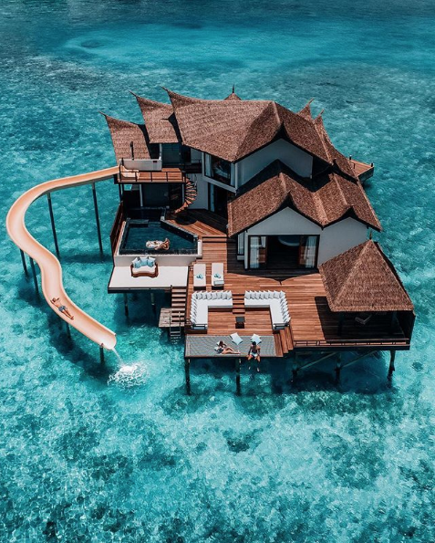 There's a Slide Attached to This Resort in The Maldives, And You Need To Go