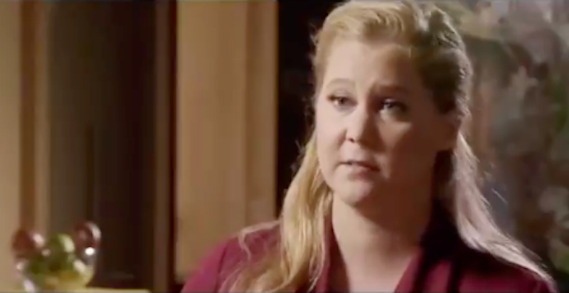 Amy Schumer looks bewildered at her inclusion.