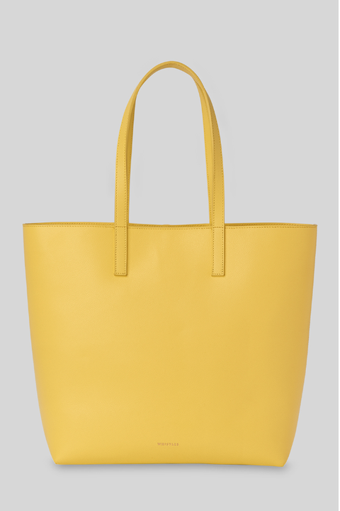 whistles yellow denmark unlined leather tote bag