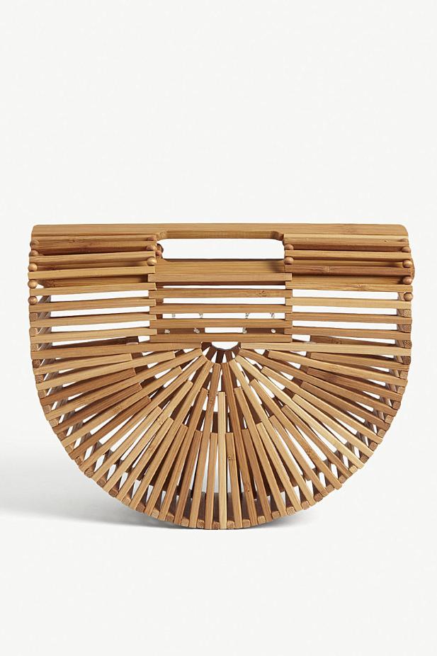 Cult Gaia bamboo arc bag