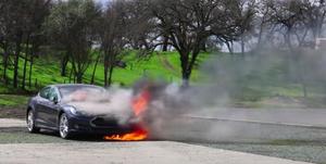 electric car fire