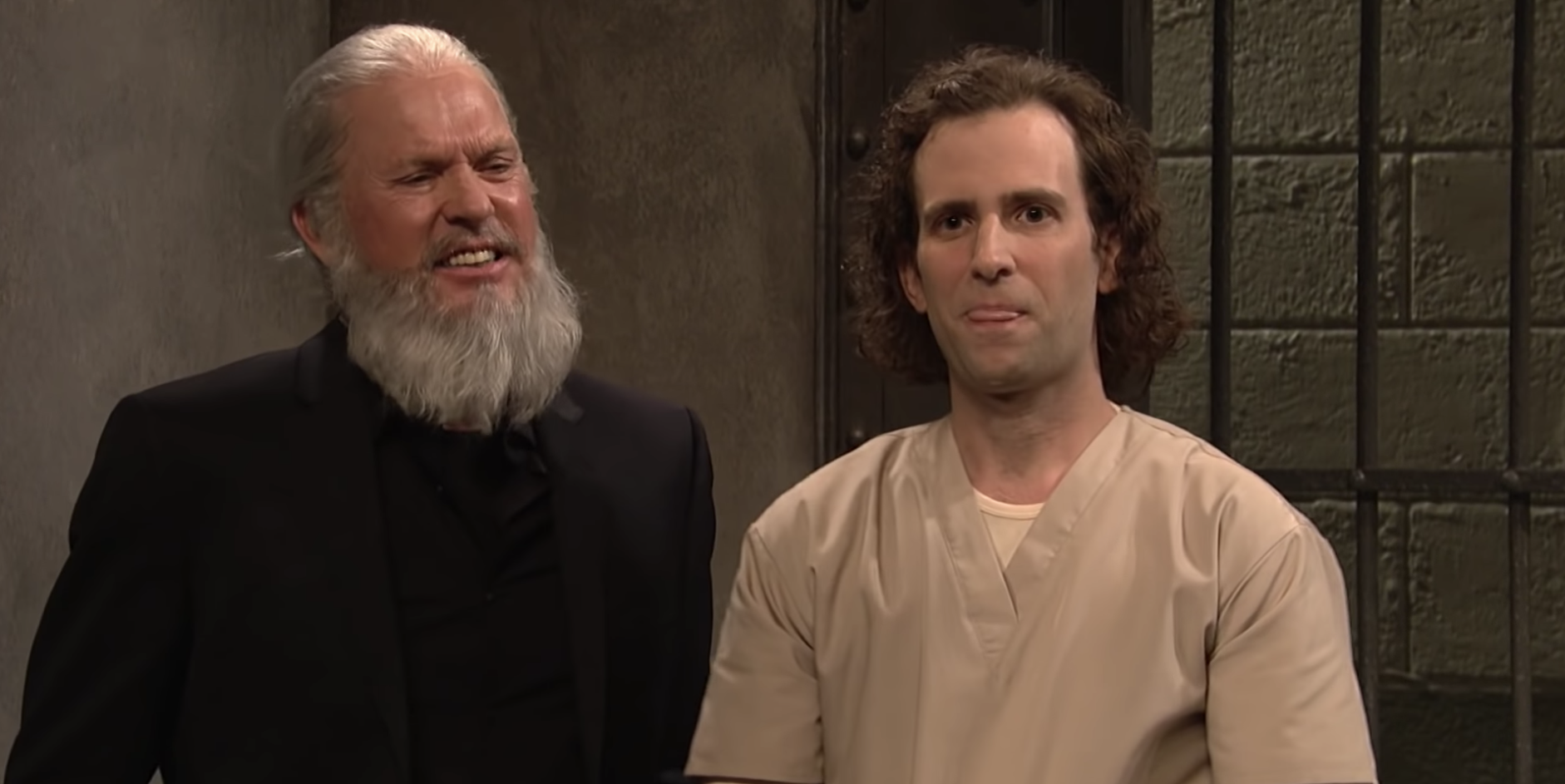 Keaton played Julian Assange, along with Kate McKinnon, who was Lori Loughlin, and Pete Davidson as Michael Avenatti.