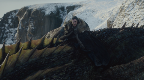 How Jon Snow Rides A Dragon On Game Of Thrones