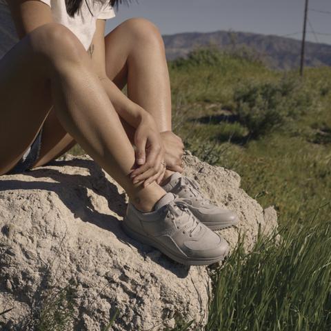 People in nature, Photograph, Grass, Beauty, Human leg, Skin, Leg, Rock, Summer, Photography,