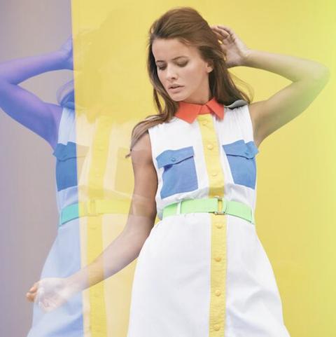 Clothing, Yellow, Blue, Fashion, Fashion design, Dress, Costume, Apron,