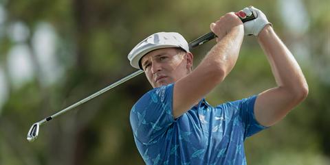 Golfer, Golf, Fourball, Professional golfer, Golf equipment, Iron, Recreation, Match play, Golf course, Golf club,