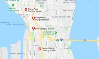 Google Maps Charging Station
