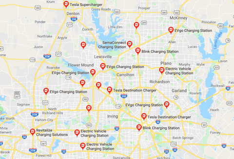 Google Maps Dallas Ev Charging Stations
