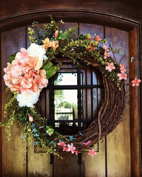 hydrangea wreath summer