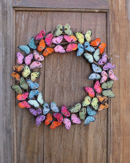butterfly summer wreath