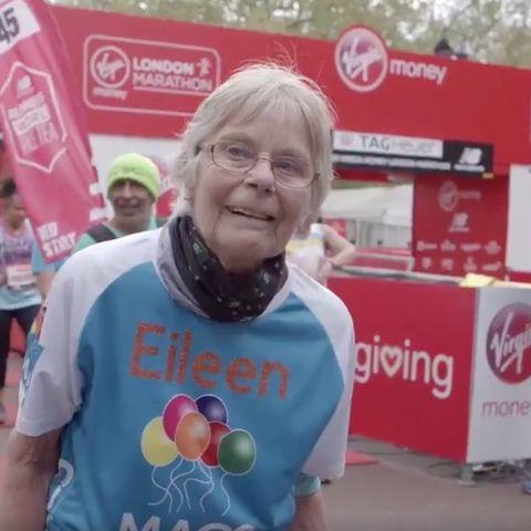 eileen noble oldest female runner at the london marathon