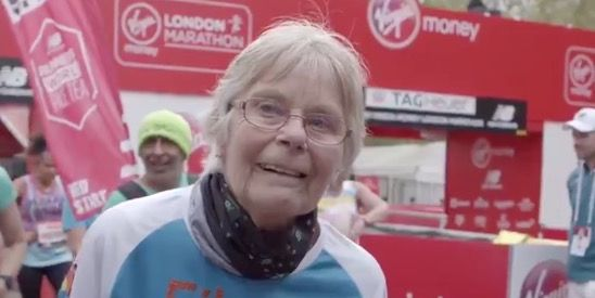 eileen noble oldest female runner at the london marathon