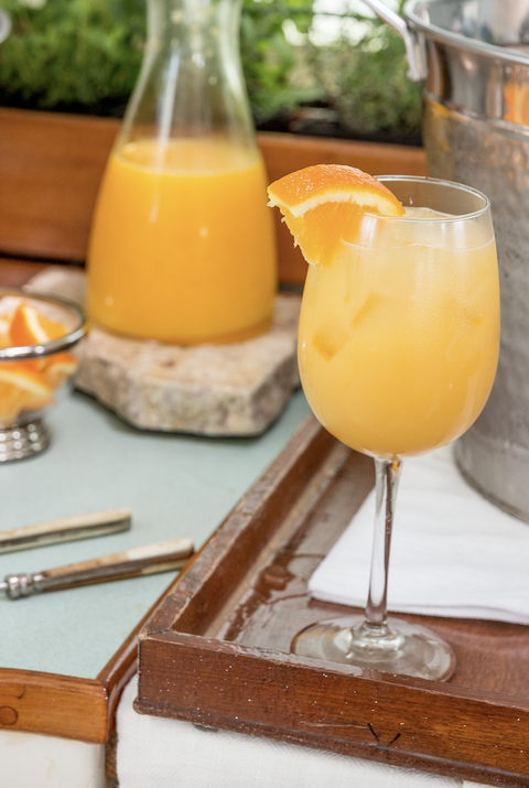 Food, Orange juice, Brunch, Juice, Ingredient, Drink, Breakfast, Agua de valencia, Mimosa, Meal,