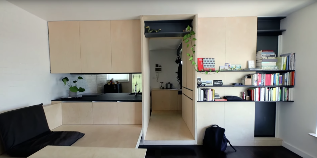 This 300 Square Foot Apartment Makes A Small Space Seem Huge Architect Douglas Wan