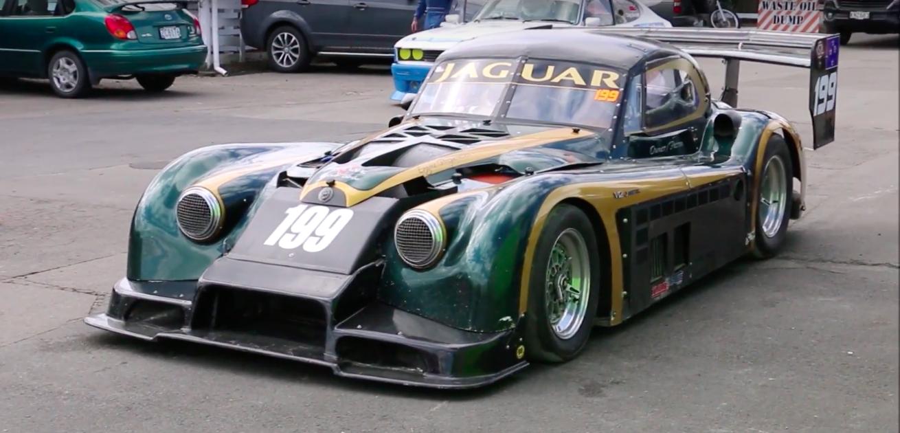 This Quad-Turbo V-12 Jaguar XK120 Is Actually a Tube-Frame Race Car