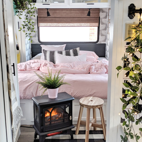 1994 RV camper makeover with plants
