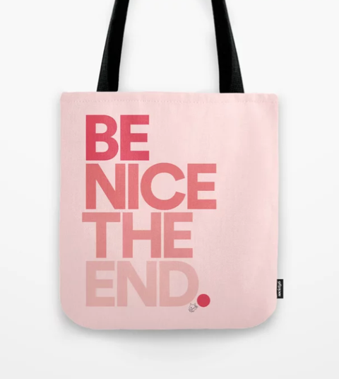 Handbag, Bag, Tote bag, Pink, Fashion accessory, Text, Font, Luggage and bags, Material property, Peach,