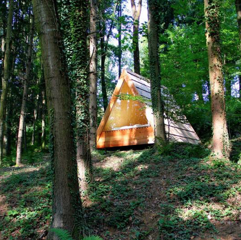 DIY a-frame cabin tiny house tiny home
