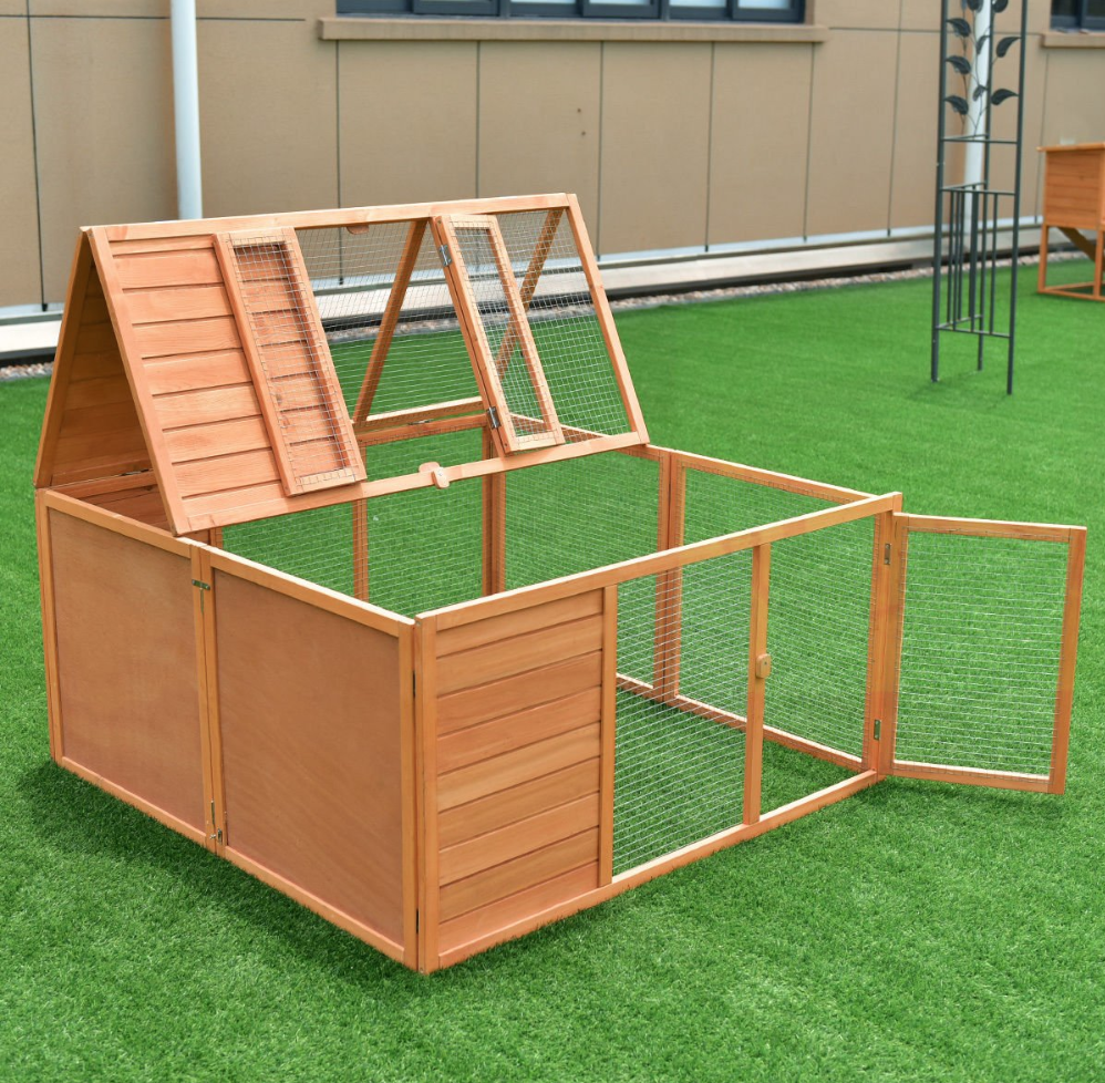 Amazon is Selling the Cutest Chicken Coop That Can Be Packed Flat For Easy Storage