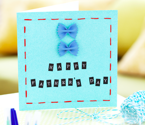 How to make a stitched Father's Day card with the kids