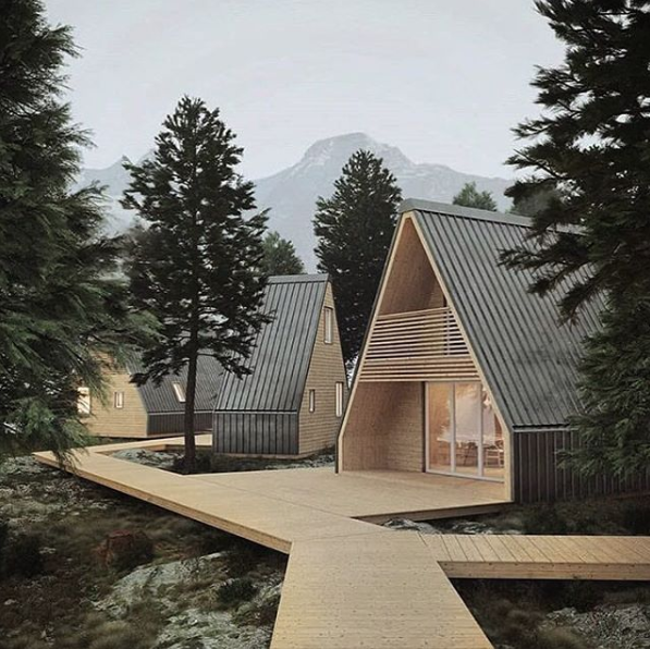This Flat Pack, A-Frame Cabin Can Be Popped Up And Put Together in a Matter of Hours