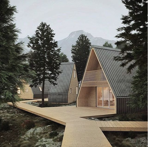 This Cabin Can Be Popped Up And Put Together in a Matter of Hours