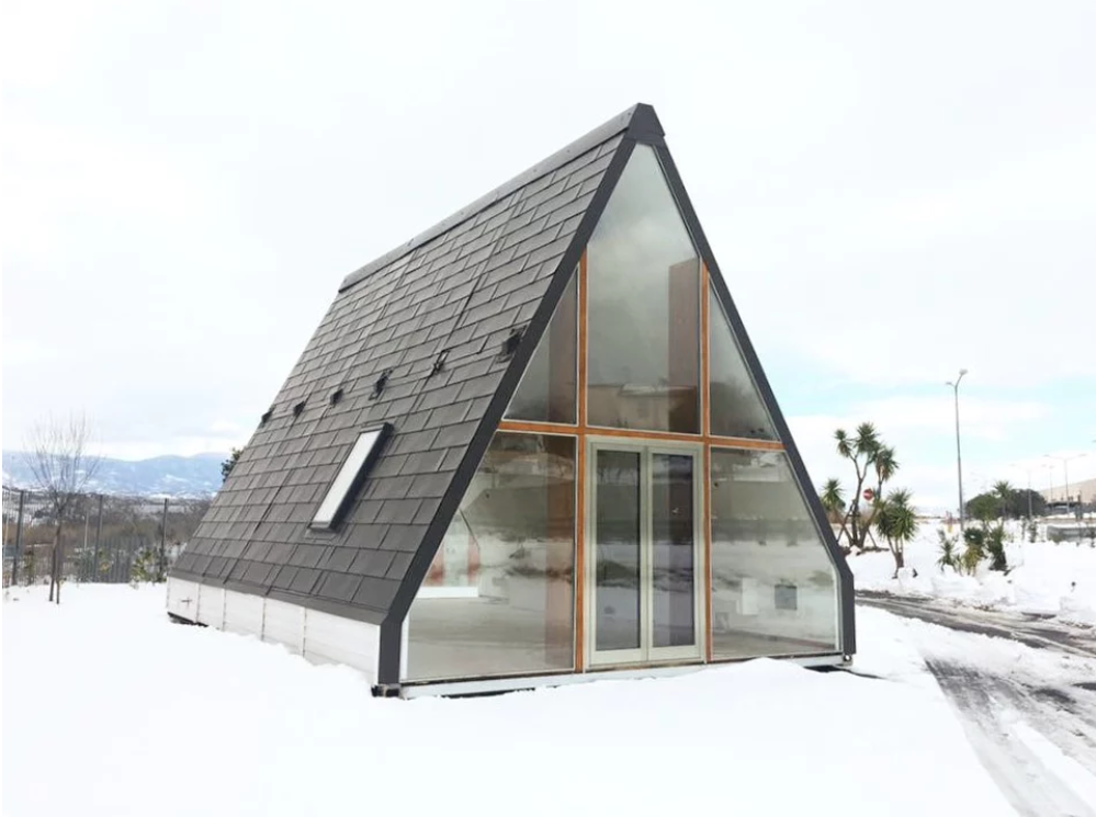 M A Di Homes Are Flat-Pack, A-Frame Cabins That Can Fold Up And Move