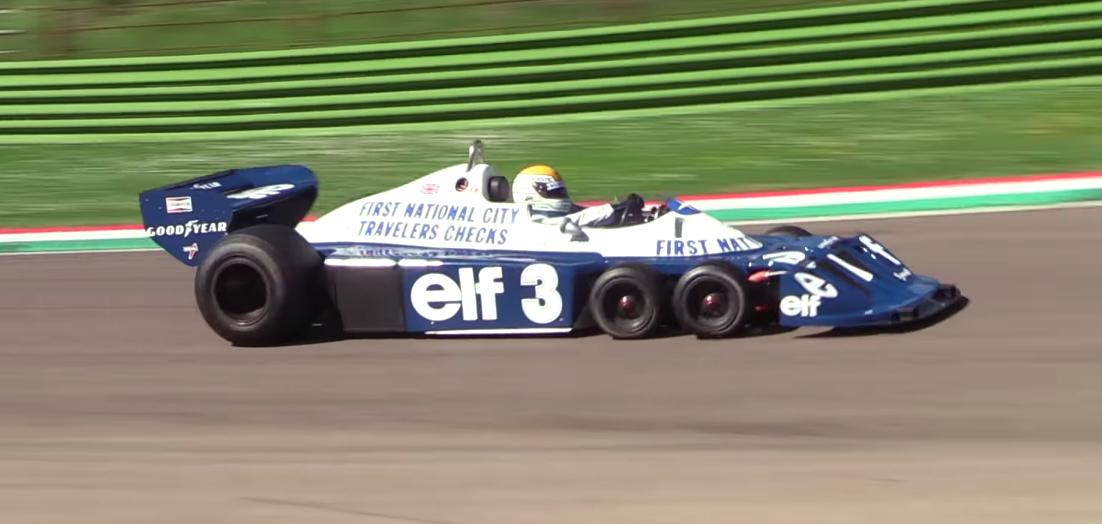 Listen to the V-8 Shriek of Tyrell's Six-Wheeled F1 Car
