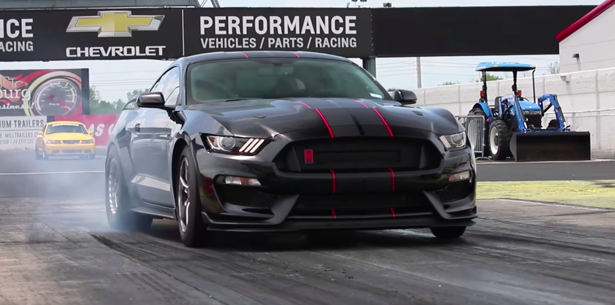 Watch This 1500-HP Twin-Turbo Shelby GT350R Run a Nine-Second Quarter-Mile