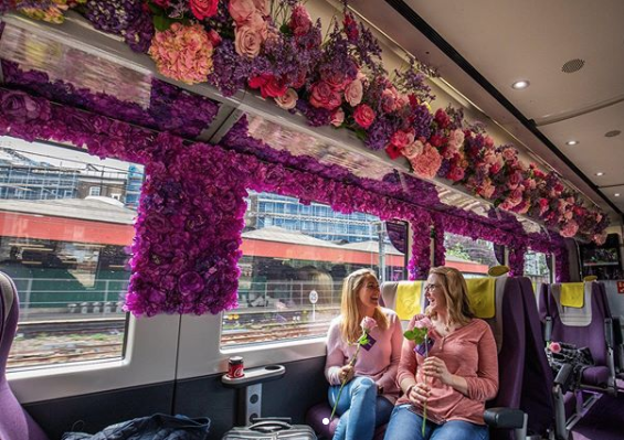 3,000 Flowers Turn This Train Into a Floral Paradise