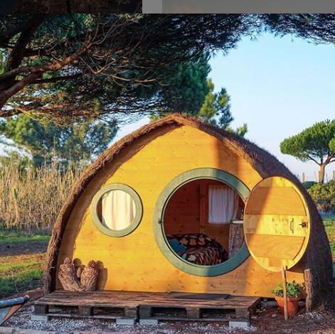 hobbit home glamping airbnb rental