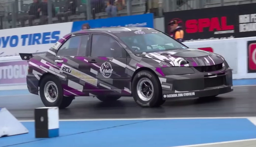 The Best-Sounding Mitsubishi Lancer Evolution Has a Turbocharged V-8