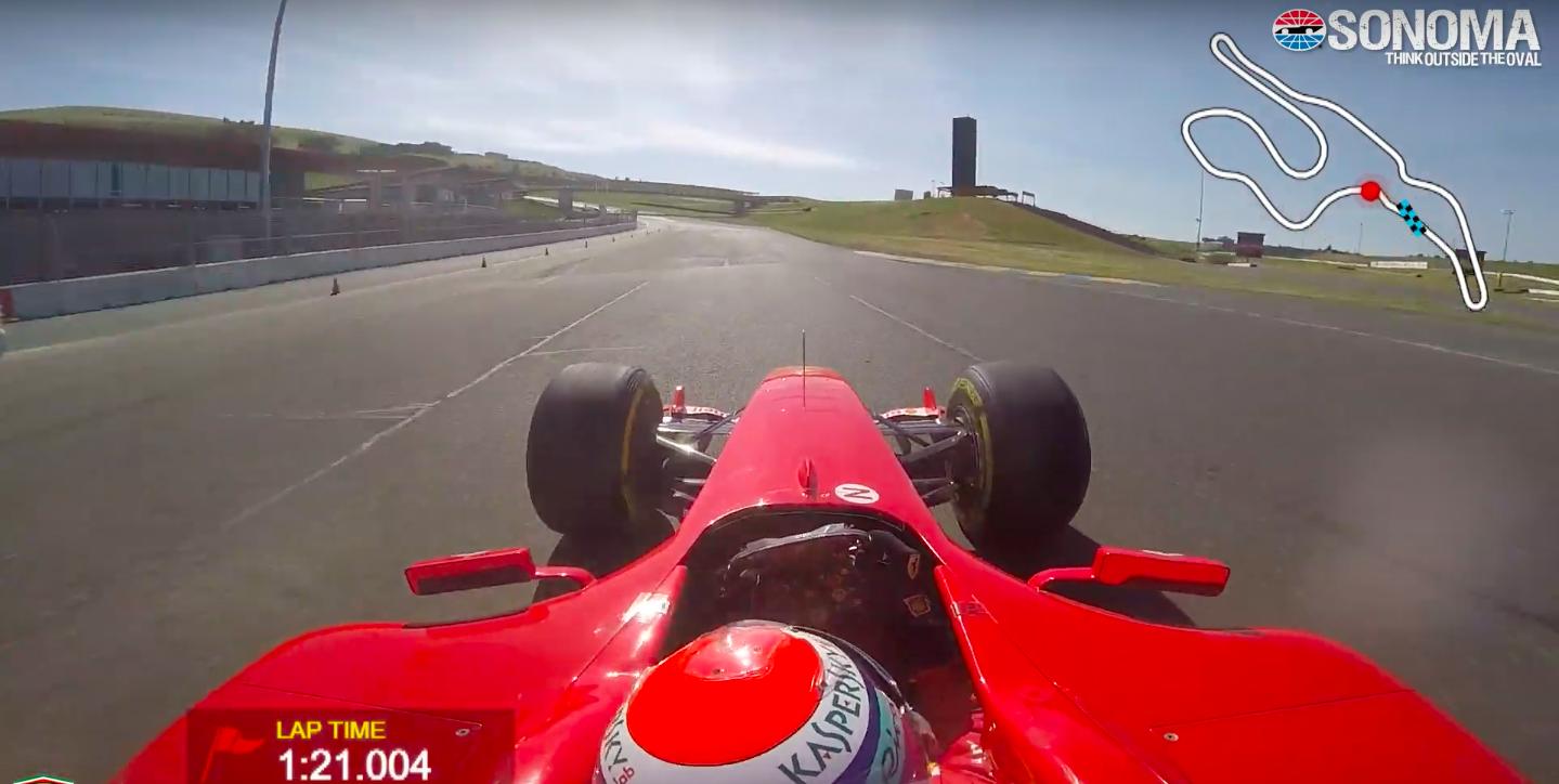 Watch a V-10 Ferrari F1 Car Fly Around Sonoma Raceway and Set a Record Lap