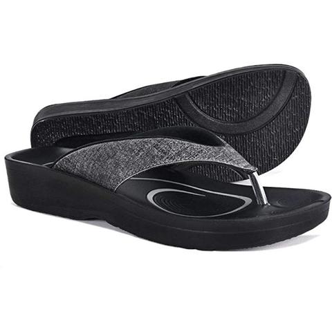 best flip flops with arch support: aerothotic flip flop sandals