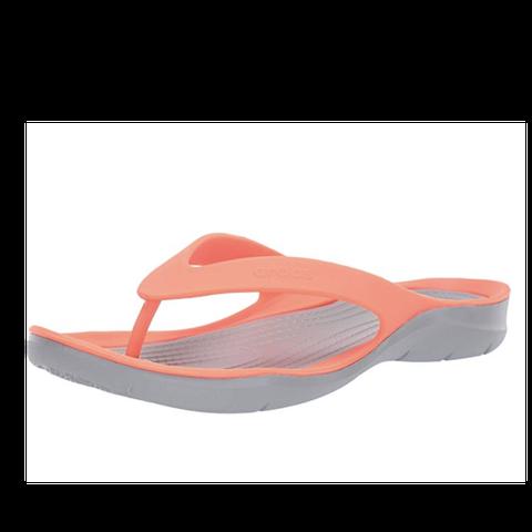 best flip flops with arch support: crocs swiftwater flip flops