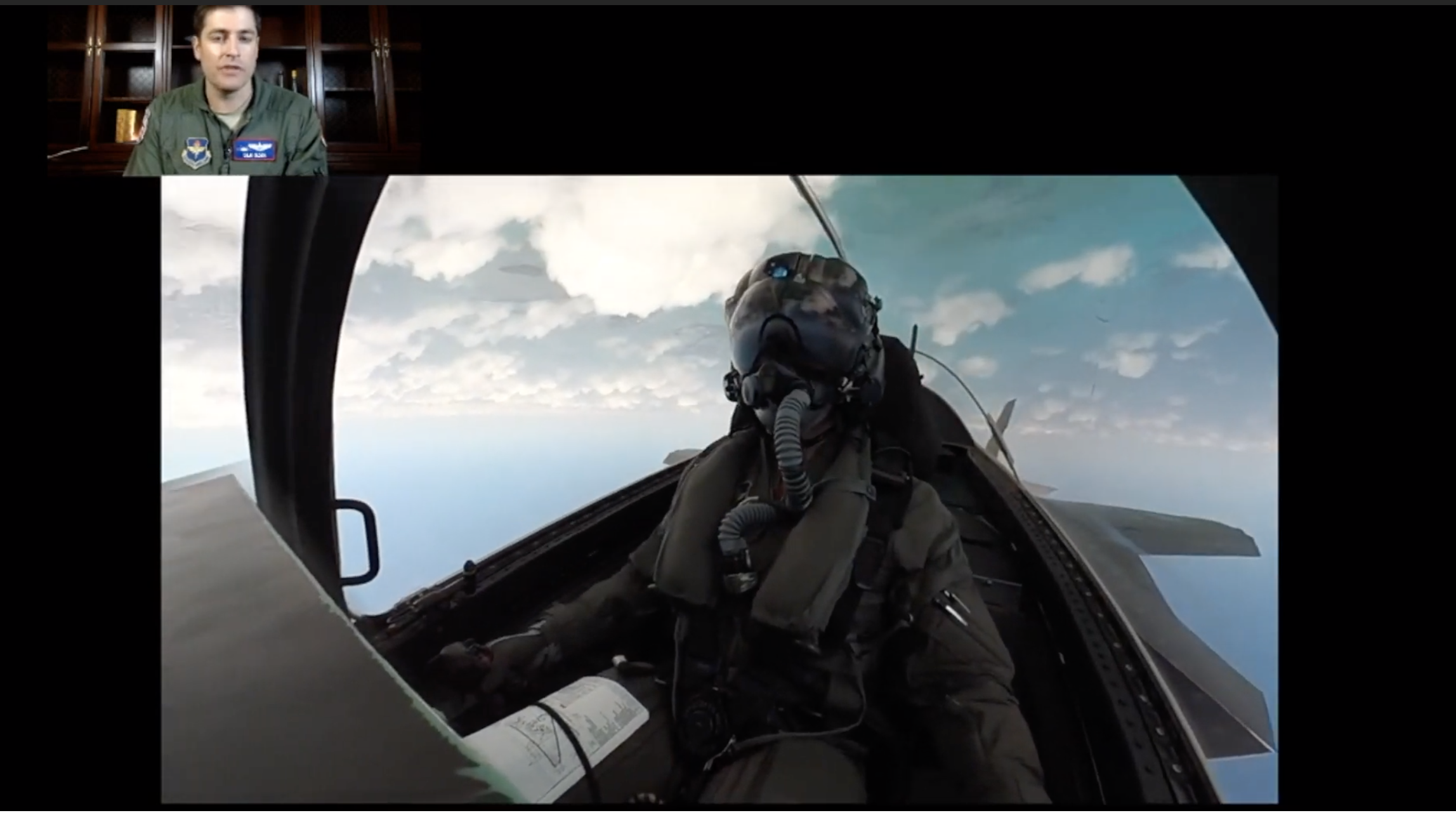 An F-35 Pilot Gives a Play-by-Play of His Own Aerial Stunts