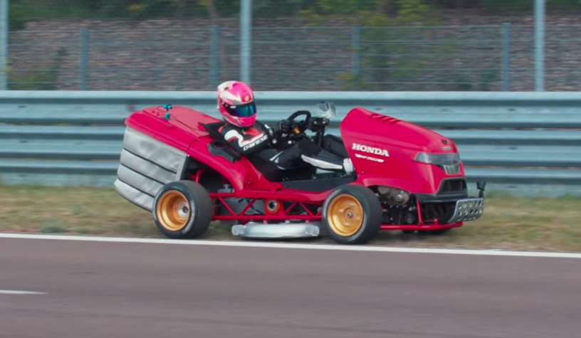 190 HP Honda Lawn Mower Sets 0-100 MPH World Record