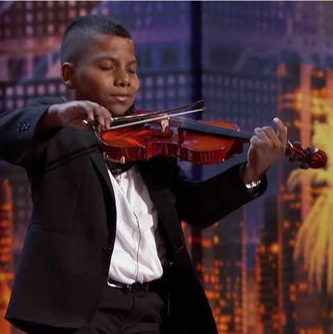 AGT violinist cancer golden buzzer