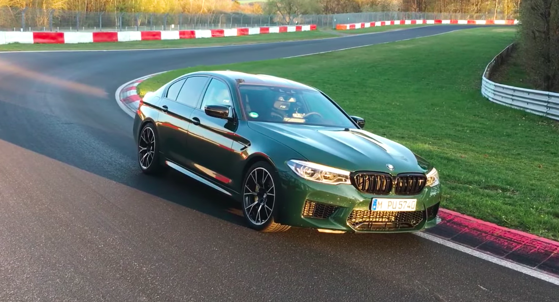 BMW M5 Competition Sets 7:35 Nurburgring Lap Video On-Borad