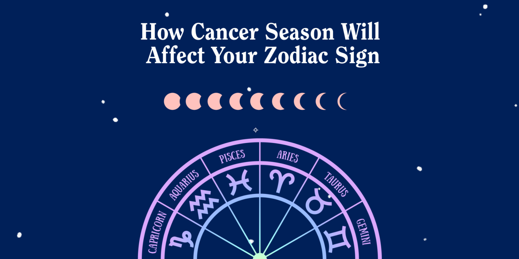 Cancer Season Is Here - Here's How Each Zodiac Sign Will Be Affected