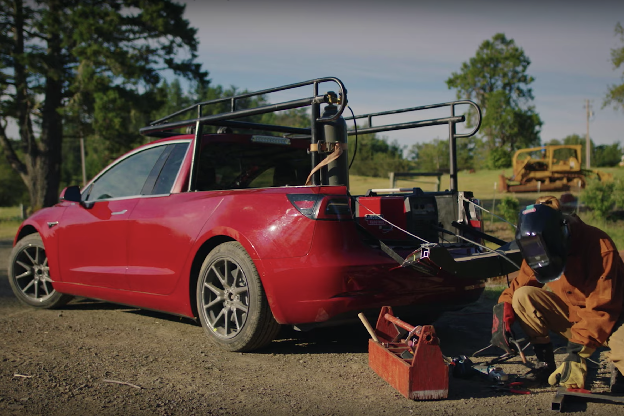 Turning a Tesla Model 3 Into a Pickup Truck Takes More Than a Sawzall