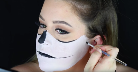 skeleton makeup tutorial stepstep  mugeek vidalondon