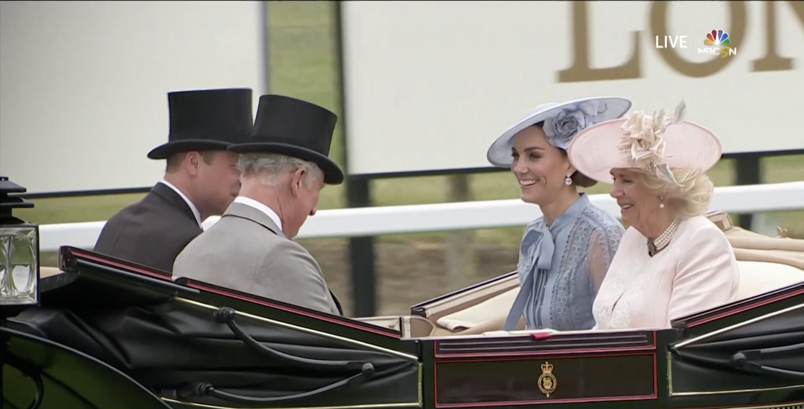 Kate Middleton Wears a Sheer Blue Elie Saab Dress to the 2019 Royal Ascot