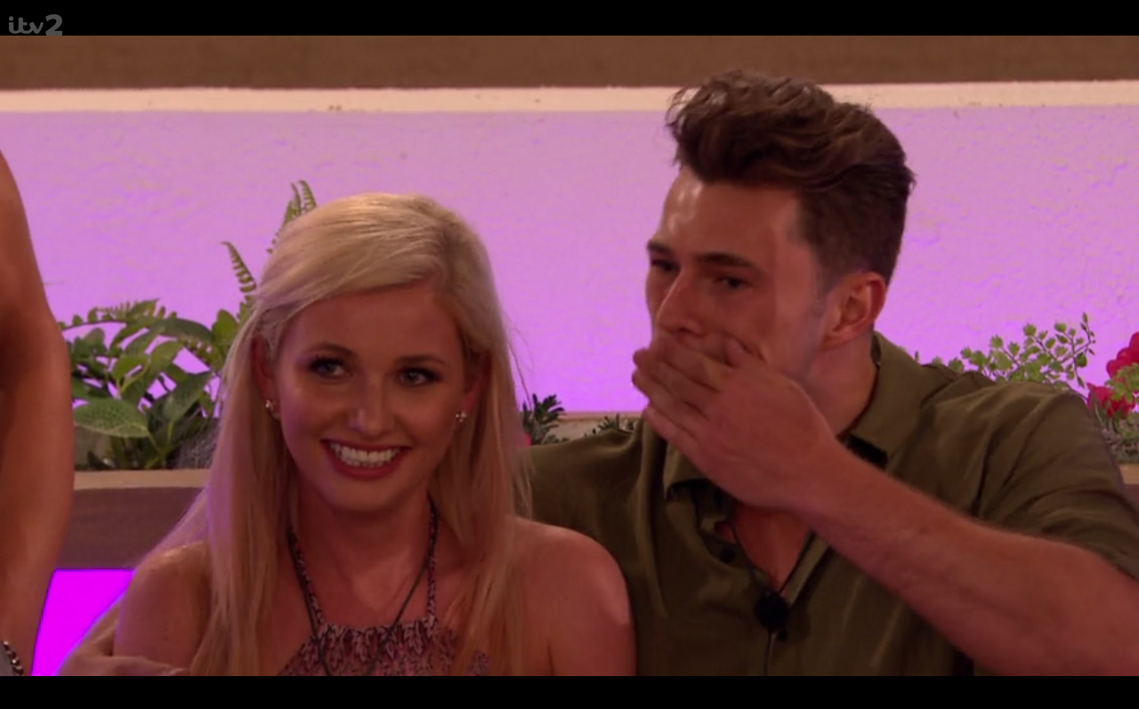 Did you spot Love Island's Curtis wiping his mouth after kissing Amy?